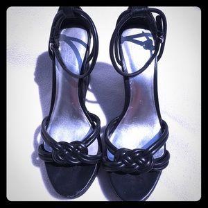 Authentic Signature black Coach Kinsey sandals